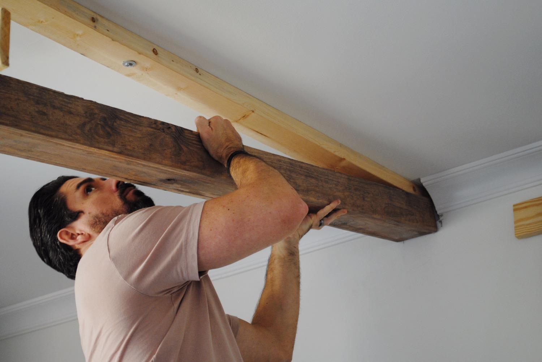 Diy Faux Ceiling Beams Raka Home Small Space Living
