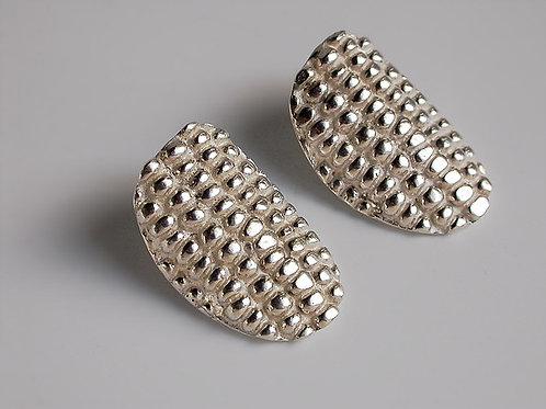 Elotes ovalados: aretes de plata