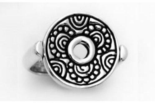 Juego flor sencillo: anillo de plata