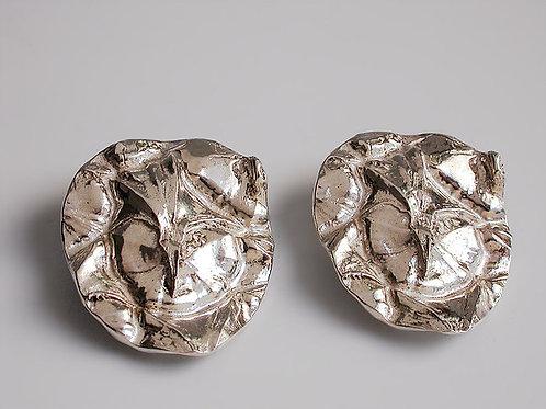 Piña: aretes de plata