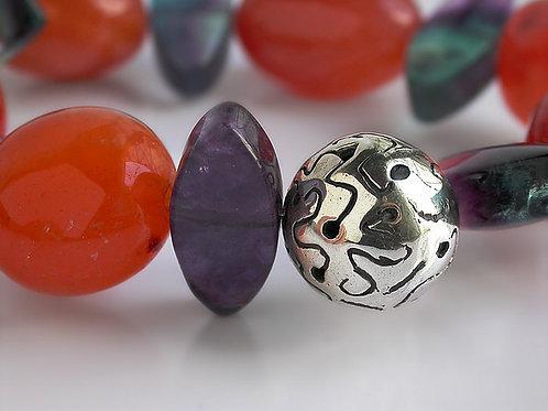 Klee: pulsera de plata y piedras