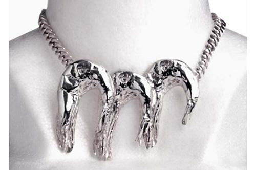 Camarón collar de plata