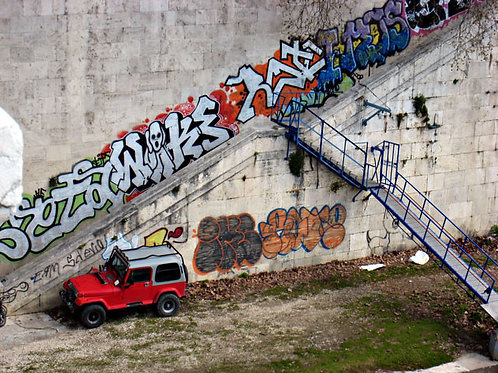 Jeep al Tevere