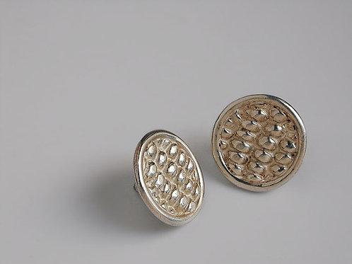 Elotes: aretes redondos de plata