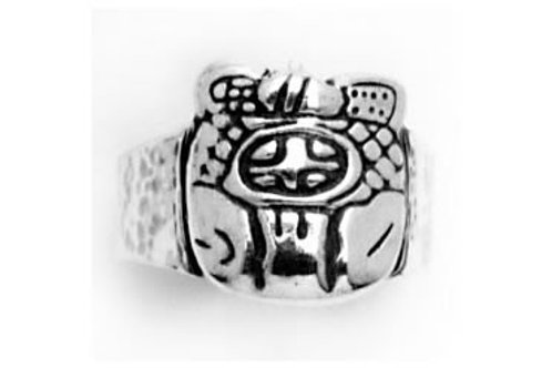 Glifo sol: anillo de plata