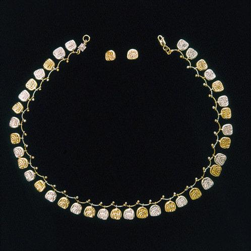 Huella de jaguar: collar y aretes