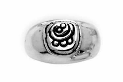Huella de jaguar: anillo de plata