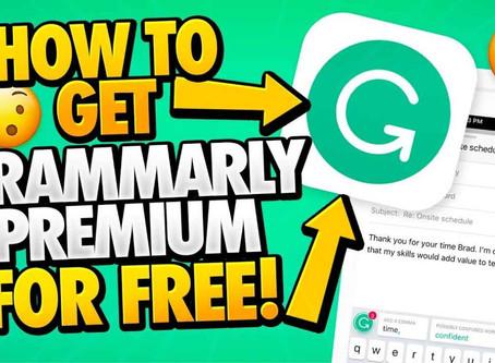 Free Grammarly Premium Account Cookies October 2020