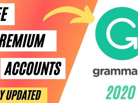 Free Grammarly Premium Accounts January 2021 [100% Working]