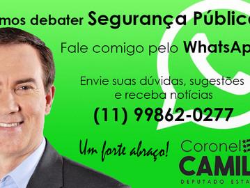 Coronel Camilo lança WhatsApp para falar diretamente com o cidadão