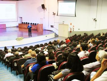 Coronel Camilo fala aos alunos da Fatec sobre sistemas inteligentes da PM