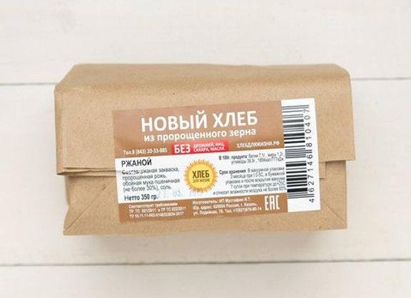 """Хлеб Ржаной Новый, """"Хлеб для Жизни"""", 350гр"""