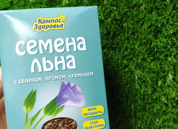 Семена льна с селеном ,хромом,кремнием,200г