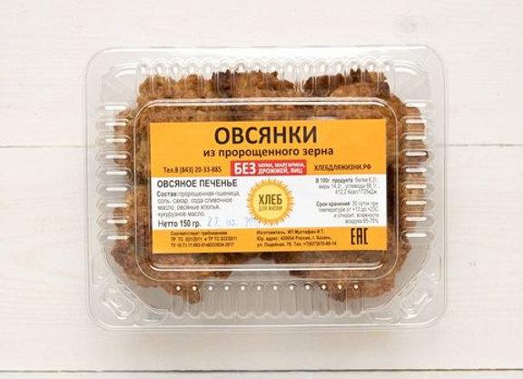 """Печенье Овсяное, """"Хлеб для Жизни"""", 150 г"""