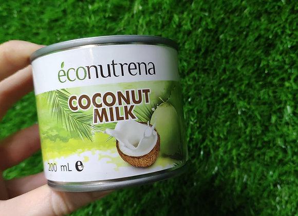 Кокосовое молоко Econutrena,200мл