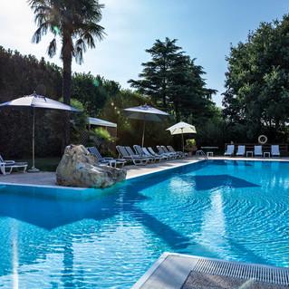 piscina esterna Hotel Saccardi