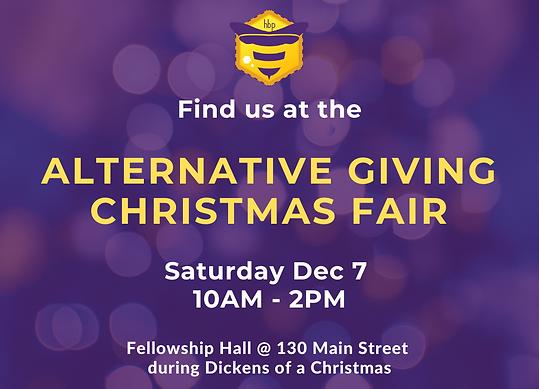 alternative giving christmas fair Saturd