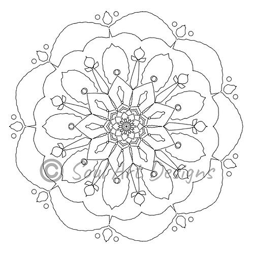 Peace Mandala Colouring Page - ENTER PROMO CODE: FREE2