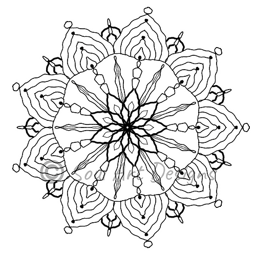 Truth Mandala Colouring Page