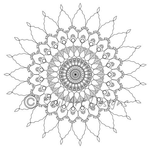 Gratitude Mandala Colouring Page