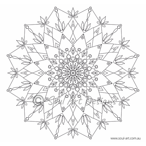 Wisdom Mandala Colouring Page
