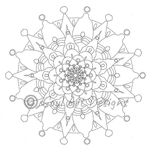 Nourish Mandala Colouring Page - ENTER PROMO CODE: FREE1