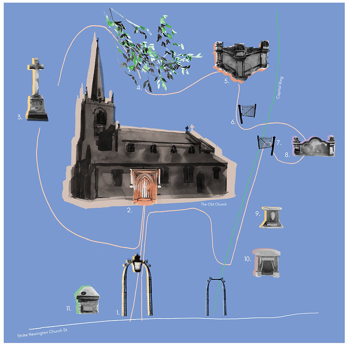 are you a ghosthunter_an audioguide to the old church_illustrated map.jpg
