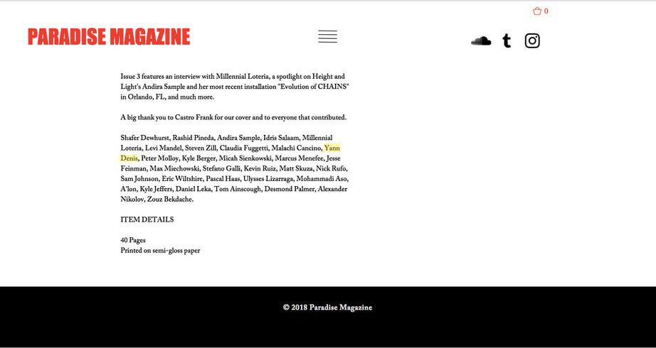 Paradise Magazine Issue 3