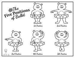 Coloring Pages - Dancing Bears - Five Po