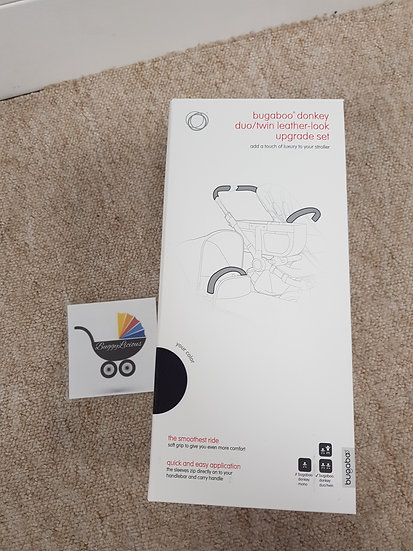 Brand new Bugaboo Donkey leather look upgrade set covers handle bar and bumper