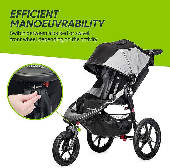 Baby Jogger Summit X3 Jogging Stroller PLUS Raincover - Black Grey RRP £473