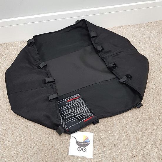 Bugaboo Donkey V1 black carrycot BASE FABRIC ONLY! 2011-2014