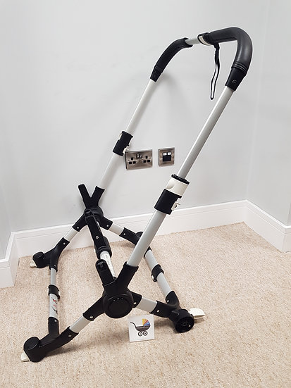 Bugaboo Donkey V1.1 chassis leatherette - silver - June 2016
