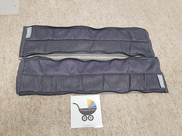 Bugaboo Donkey grey zip fabric covers bumper bar carry handle