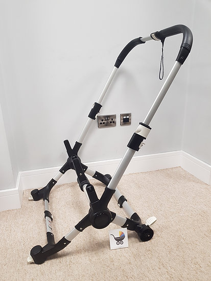 Bugaboo Donkey V1.1 chassis leatherette - silver - August 2016