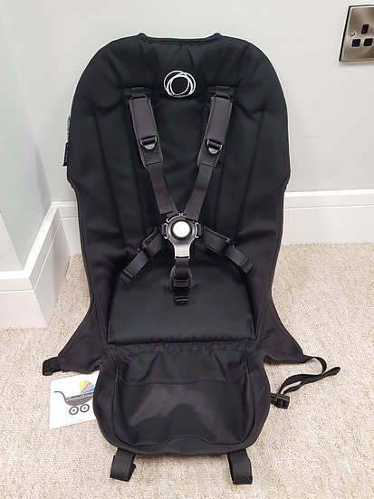 Bugaboo Buffalo Black seat fabric with comfort harness