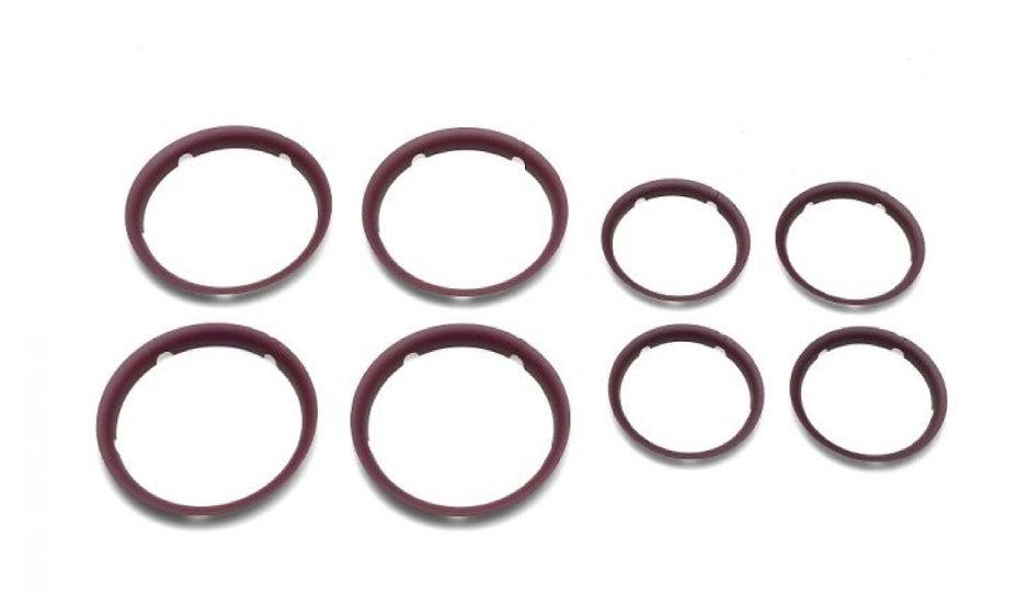 Brand New Bugaboo Fox Wheel Caps - dark red