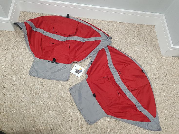 Baby Jogger City Mini GT Double Hood Fabrics - Red/Grey