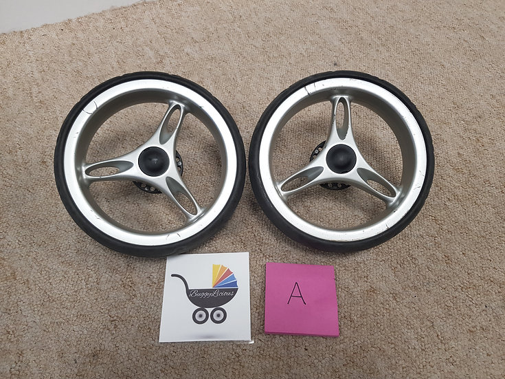 Baby Jogger City Mini pair of back wheels - GRADE A - single and double