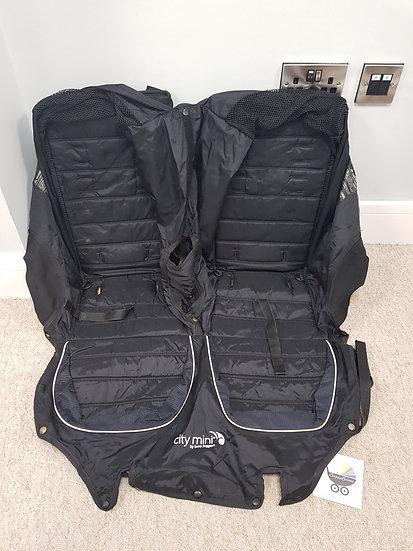 Baby Jogger City Mini Double Seat Fabrics - Black