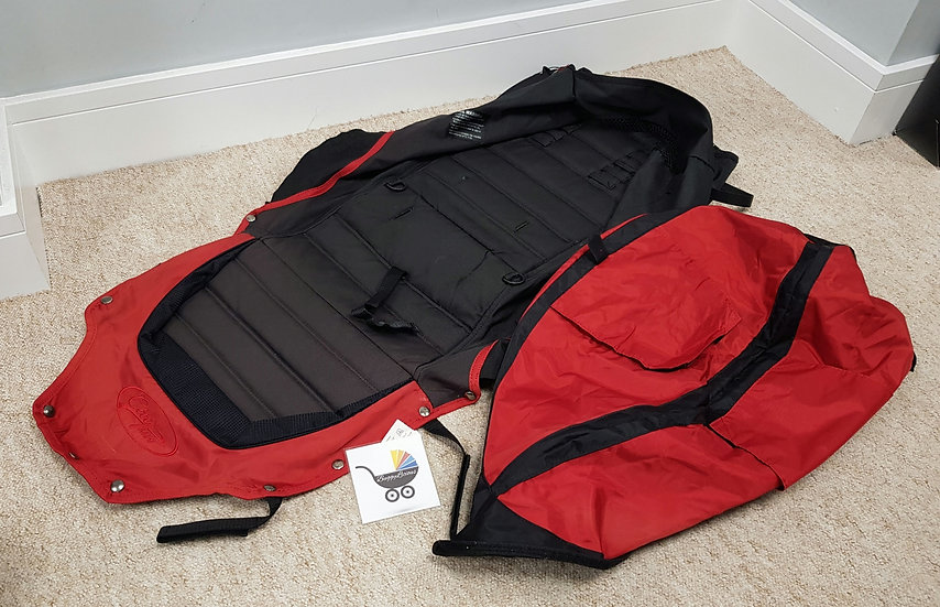 Baby Jogger City Mini 4 WHEEL VERSION Single Seat And Hood Fabrics - Red Black