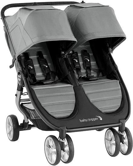 Baby Jogger City Mini2 Double Pushchair PLUS raincover! - Slate Grey RRP £538