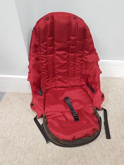 Baby Jogger City Select red seat fabric ONLY. NO harness or boards