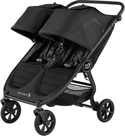 Baby Jogger City Mini GT2 Double Pushchair PLUS Raincover - Jet Black RRP £708