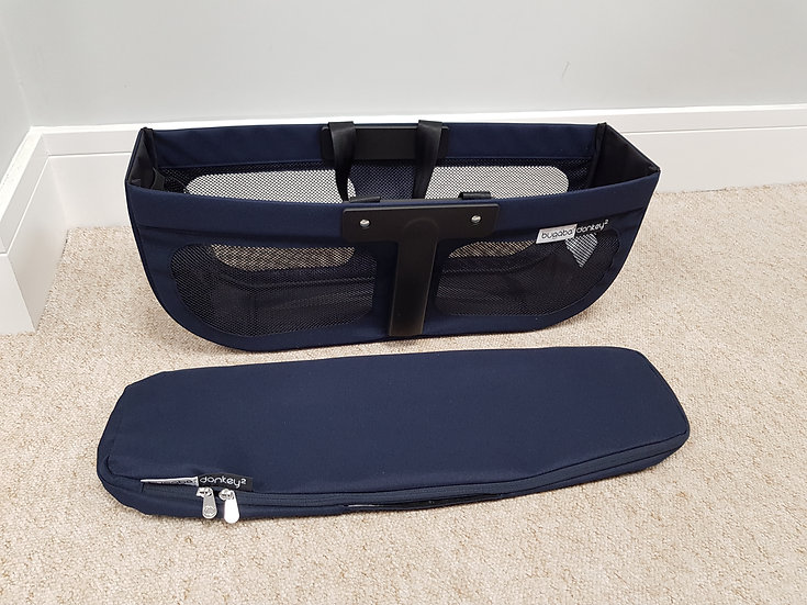 Brand New Bugaboo Donkey2 side basket and matching cover - navy blue classic