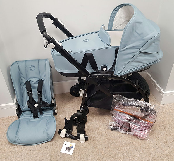 Preloved Bugaboo Bee5 Black Track Edition Pram with loads of new parts