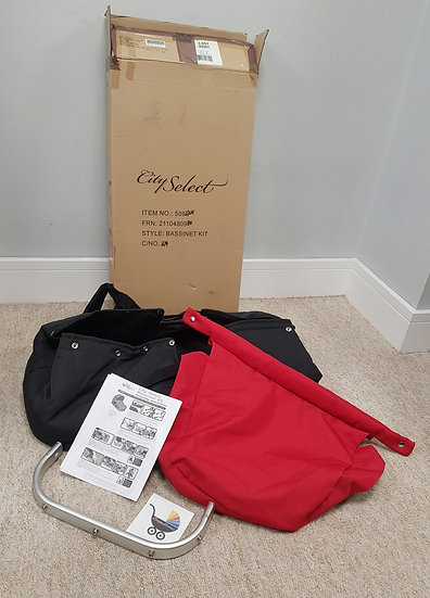 Brand new Baby Jogger City Select bassinet kit carrycot black red