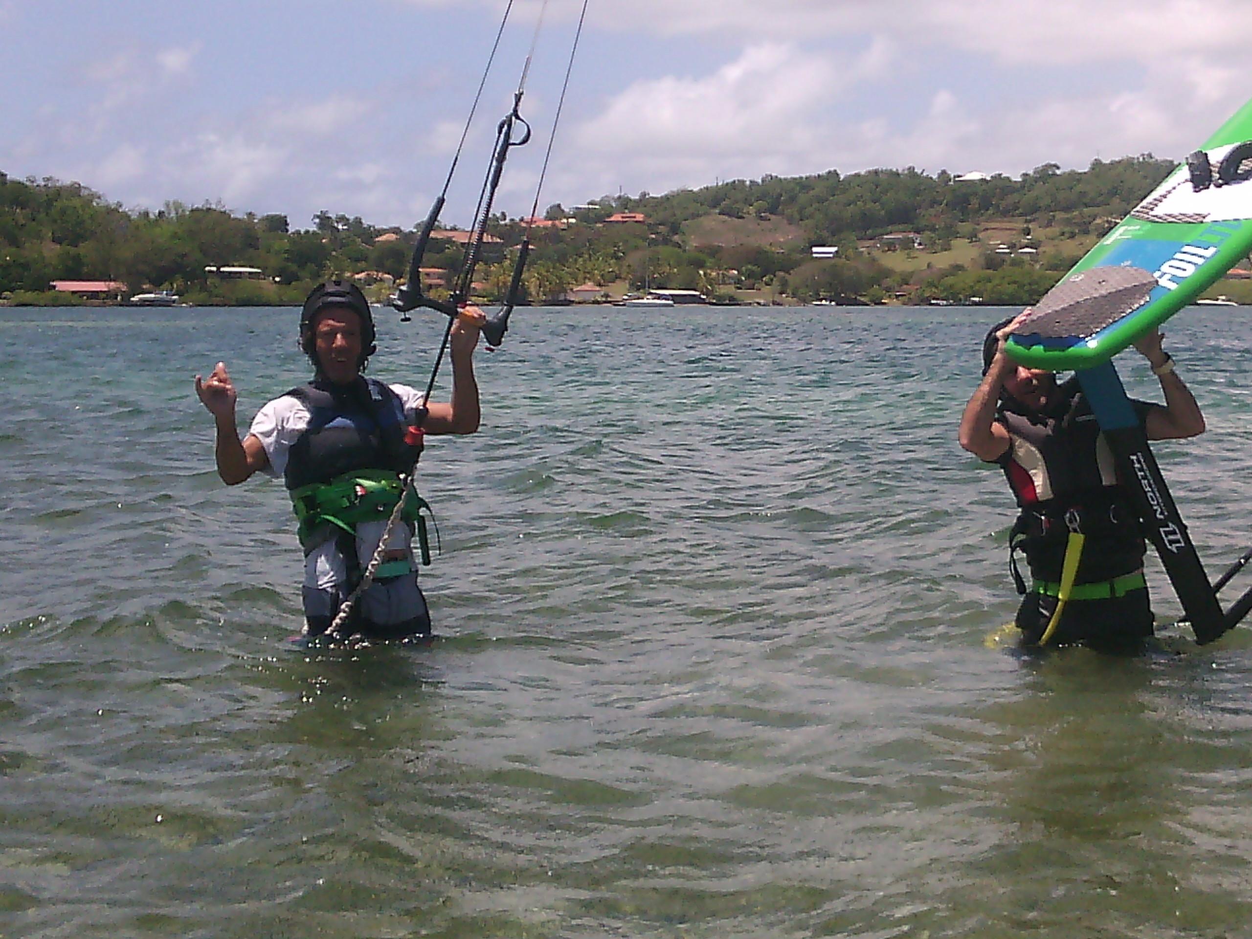 Stage de kitesurf en duo