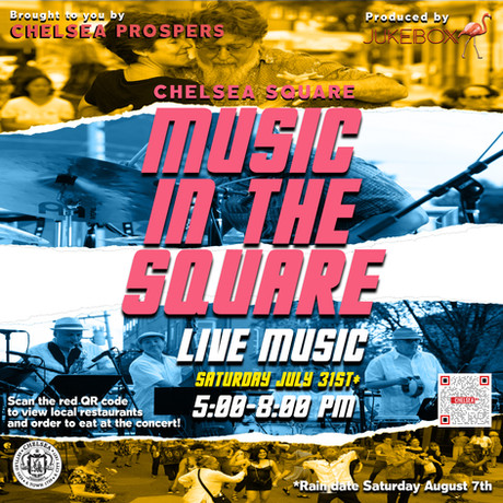 Music in the Square Saturday, July 31, 2021.  Starting at 5pm.