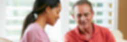 Man with diabetes receiving motivational interviewing from a Diabetes Educator